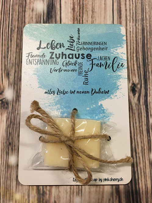 Say it with Soap - Holzkarte mit Seife - ZUHAUSE