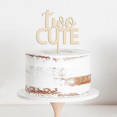 CakeTopper - Tortenstecker Geburtstag - Birthday Two Cute