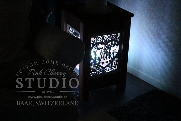 "Rustikale Laterne/Lampe - Memory Lamp ""Love Birds"""