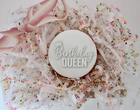 Birthday Queen - Krone Cookie Stamp - Fondant- / Kekstempel