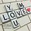 Thumbnail: Scrabble Tile Buchstaben im Shabby Stil