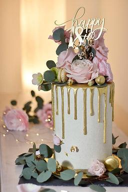 CakeTopper - Tortenstecker Birthday Happy 18th