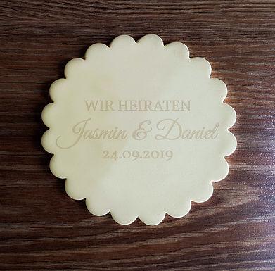Wir Heiraten - Fondant- / Kekstempel