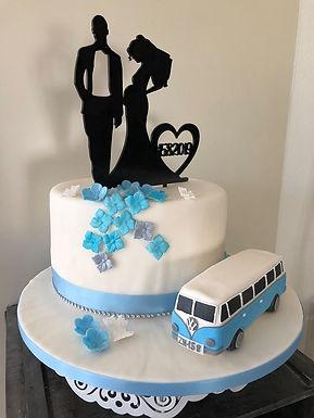 CakeTopper - Tortenstecker Brautpaar - Schwangere Braut mit Datum