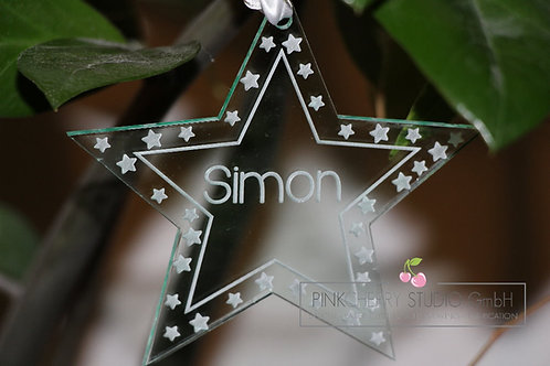 Weihnachtsbaum Deko - Stern mit Sternenrand