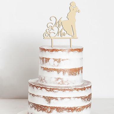 CakeTopper - Tortenstecker Hochzeitspaar - Wedding Couple - Hochzeit - Style 25