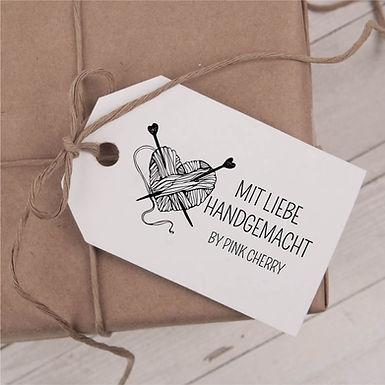Mit Liebe Handgemacht - Wolle - Garn Stempel - Handarbeit - Typo 102