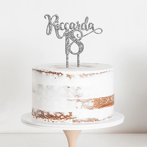 CakeTopper - Tortenstecker Geburtstag - Personalisiert Name und Alter Style 26