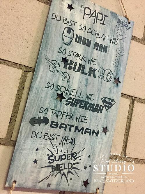 Super Papi - Shabby Holzschild