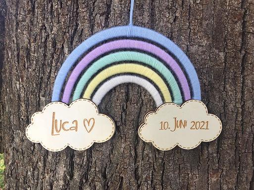 Regenbogen mit Wolke - Personalisiert