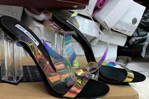 Transparent unique heel