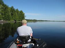 fishing in Maine lake near Machias