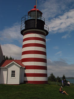 lighthouse in Lubec Maine