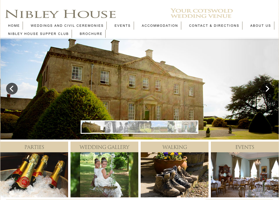 We are the recommended wedding videographers for Nibley House.