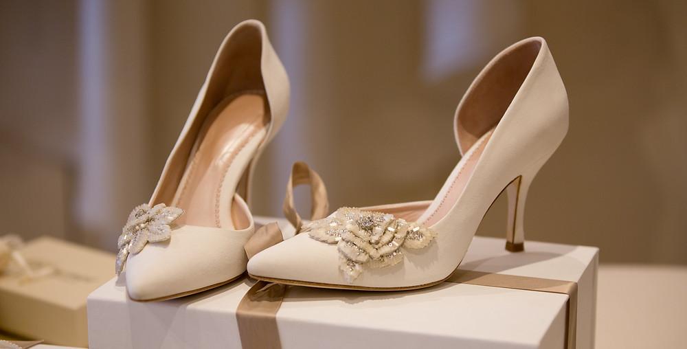 Wedding shoes, best wedding videography, dorset wedding videography, wedding cinematography, luxury wedding