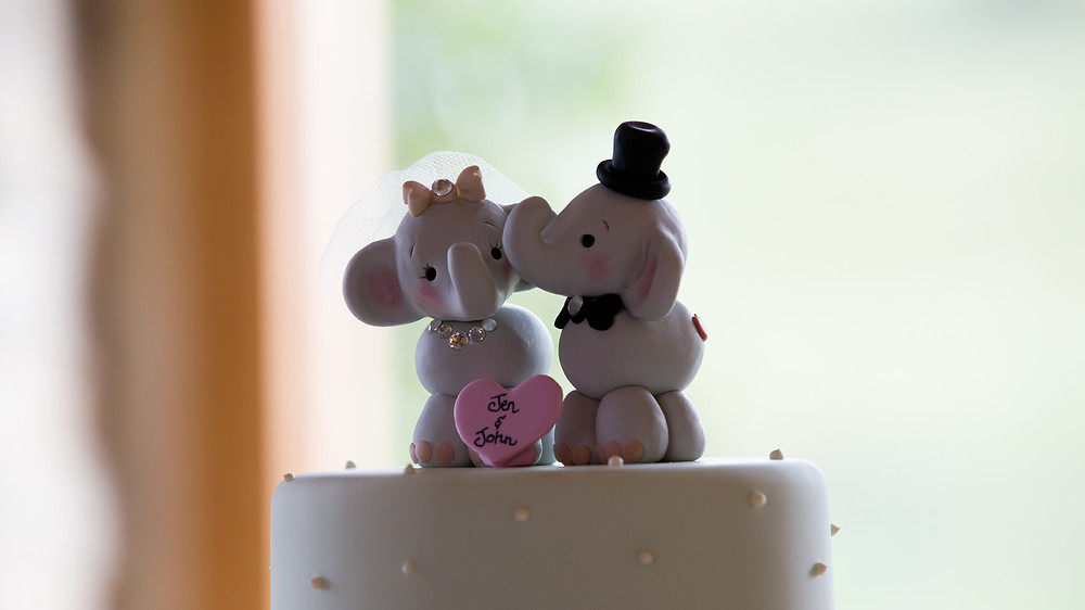 What a cute cake topper shown here.