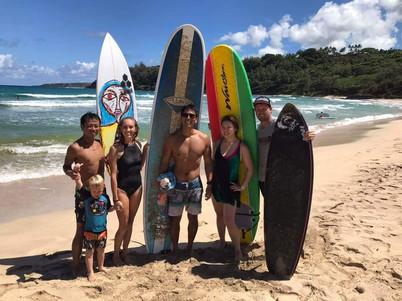 Hamilton Surf Lesson Kauai