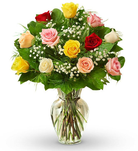 Assorted Dozen Roses