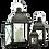 Thumbnail: Metal Lantern - X Pattern