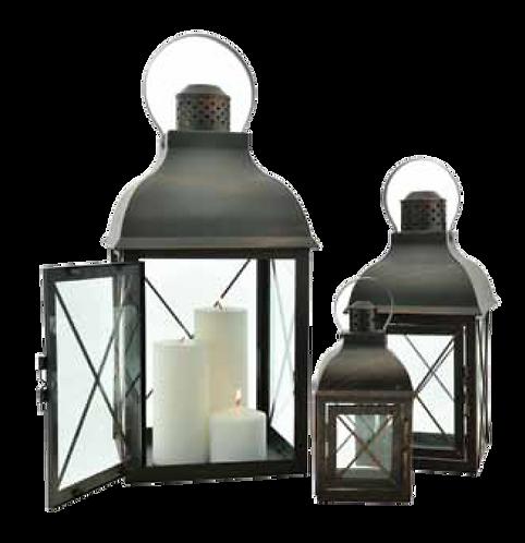 Metal Lantern - X Pattern