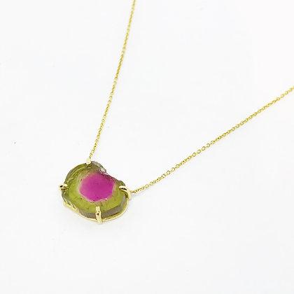Watermelon Tourmaline Necklace