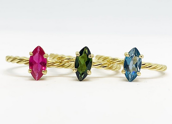 Twisted Marquise Ring