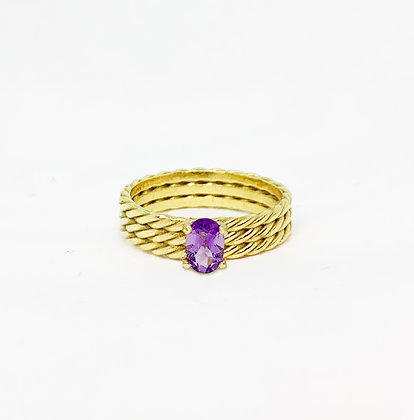 Triple Twisted Oval ring