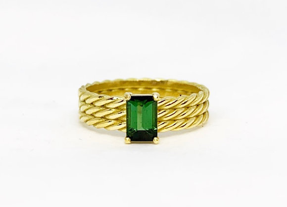 Triple Twisted Rectangle ring