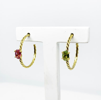Twisted Earrings Big with stones