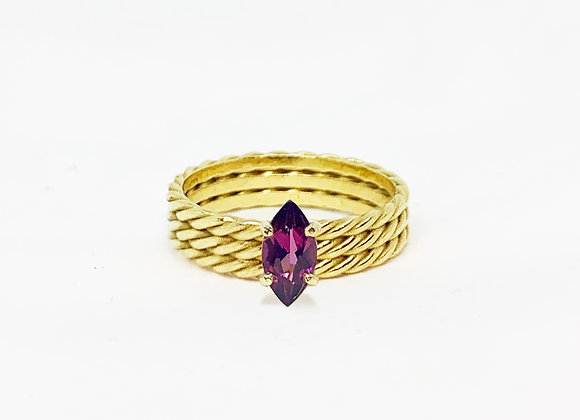 Triple Twisted Marquise ring