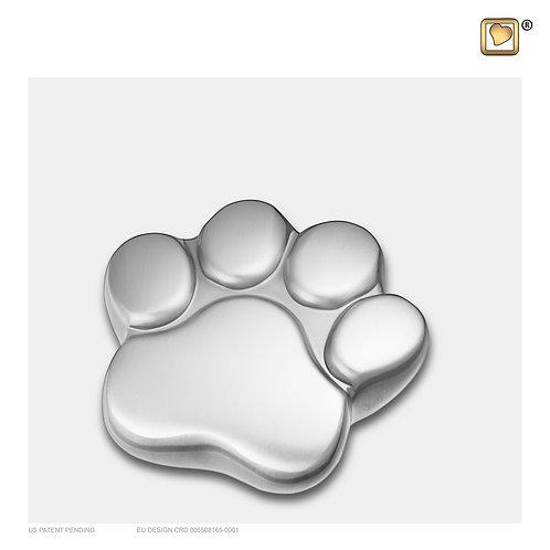LovePaw Pet Keepsake Urn Brushed Pewter