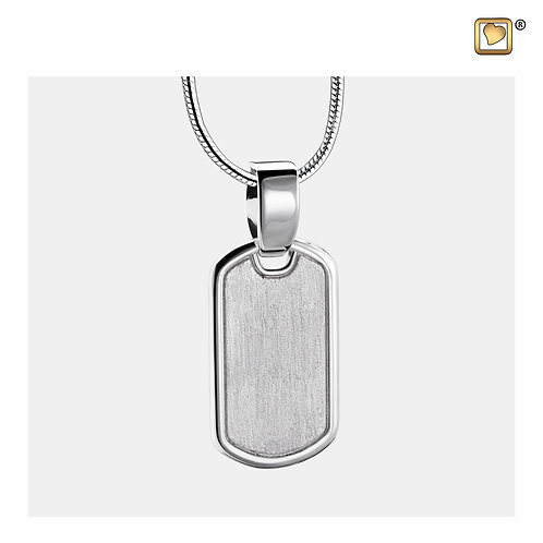 LoveTag Ashes Pendant Polished & Brushed Silver