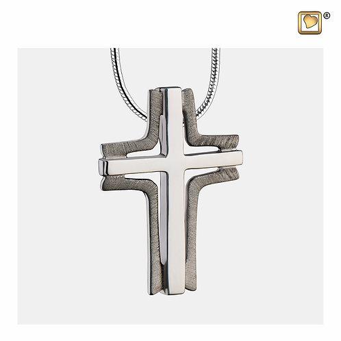 Cross Elegant Ashes Pendant Brushed Ruthenium
