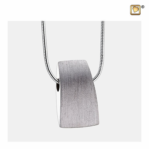 Tribute Ashes Pendant Brushed Silver