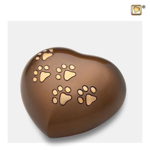 Heart Pet Urn Bronze & Brushed Gold