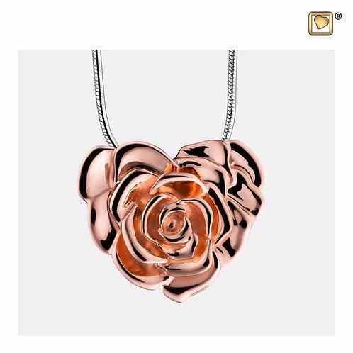 LoveRose Ashes Pendant Polished Rose Gold Vermeil