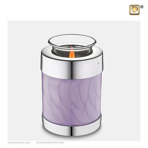 Tealight Urn Pearl Lavender & Polished Silver