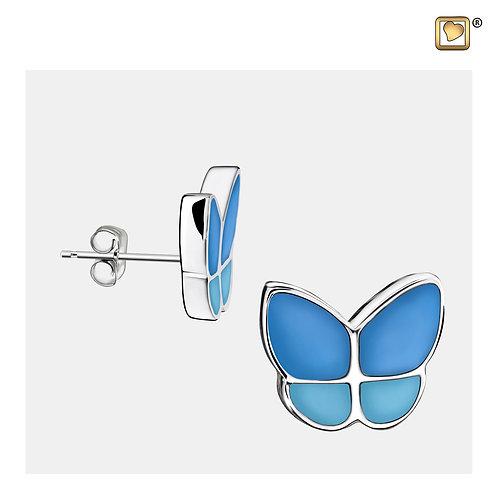 Wings of Hope Stud Earrings Pearl Blue