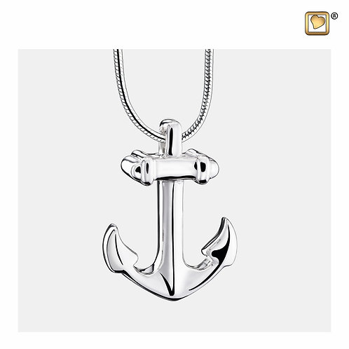 Anchor Ashes Pendant Pol Silver