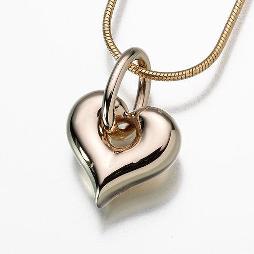 Gold Vermeil Puff Heart