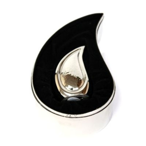 Elegante Bright Silver Teardrop Keepsake Set