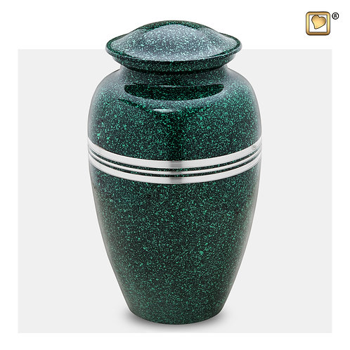 Classic Urn Speckled Emerald & Brushed Pewter