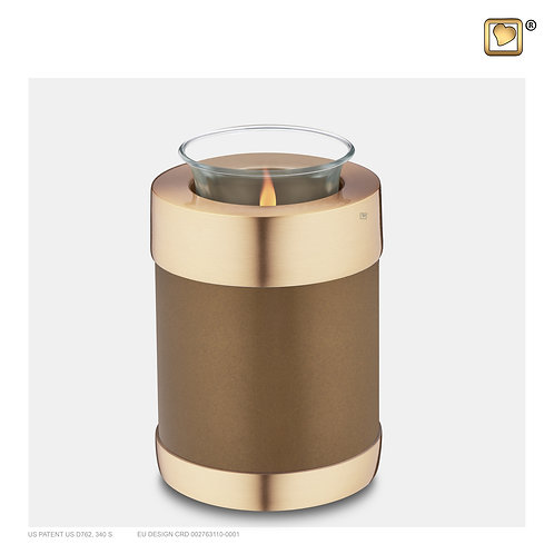 Tealight Urn Bronze & Brushed Gold
