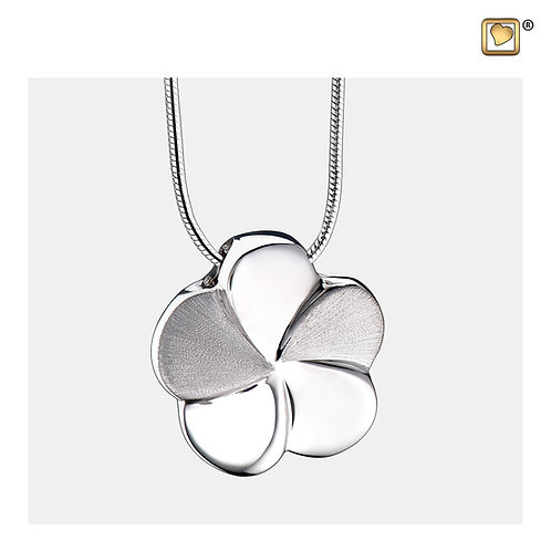 Bloom Ashes Pendant Pol & Brushed Silver