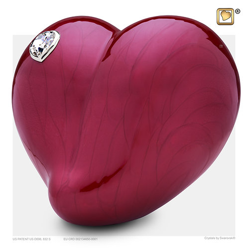 LoveHeart Pearl Red