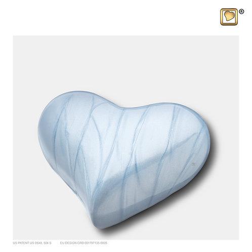 Heart Urn Pearl Blue