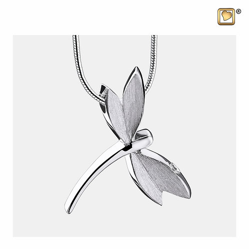 DragonFly Ashes Pendant Polished & Brushed Silver