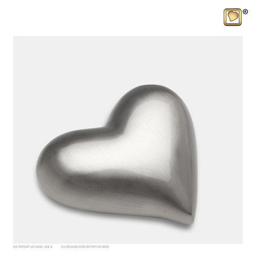 Heart Keepsake Urn Bru Pewter