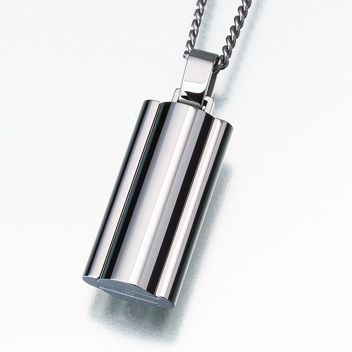 Narrow Stainless Steel Flask with Chain