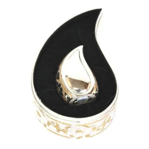 Elegante Silver Gold Teardrop Keepsake Set